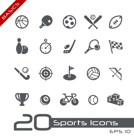 equipe sport: Des ic�nes du sport - Notions de base Illustration