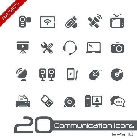 Communication Icons -- Basics Vector