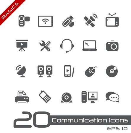 Iconos de Comunicación - Conceptos básicos Ilustración de vector
