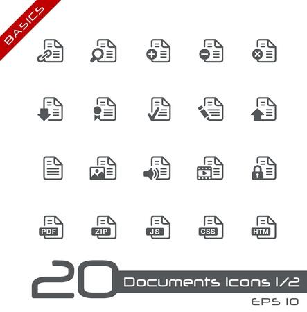 css: Icone Documenti - Set 1 di 2 - Nozioni di base Vettoriali