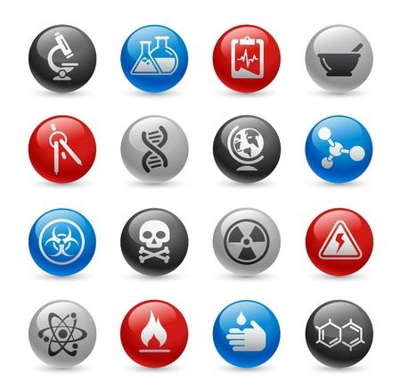 sustancias peligrosas: Ciencia - Gel Pro Series Vectores
