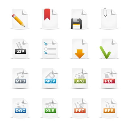 word processor: Documents -- Professional Icon Set Series