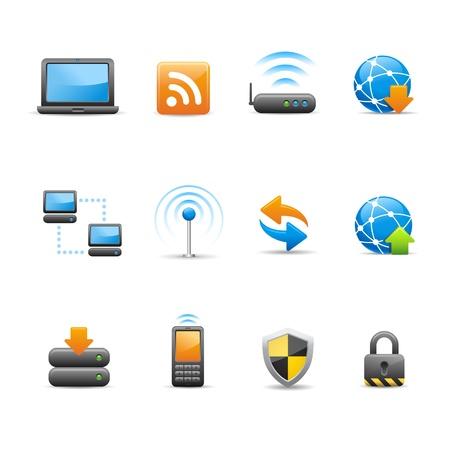 conectividad: Professional Icon Set - Conectividad Vectores