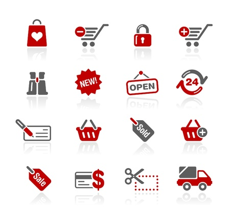 e commerce icon: Shopping -- Redico Series