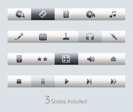 botones musica: Medios y Entretenimiento Vectores
