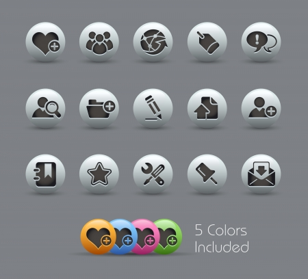 Internet and Blog Icons -- Pearly Series Stock Vector - 15029945