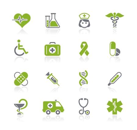 icone sanit�: Care Icons Medicina e Heath - Natura Serie Vettoriali