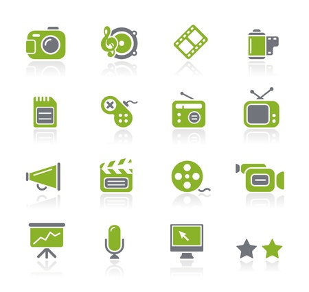Multimedia Icons -- Natura Series Vector