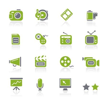Multimedia Icons - Natura Series Ilustración de vector