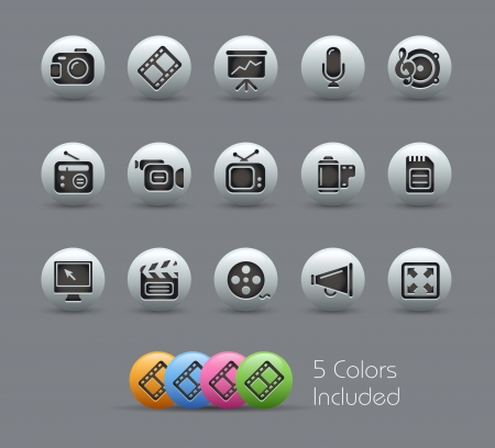 Multimedia Icons -- Pearly Series Vector