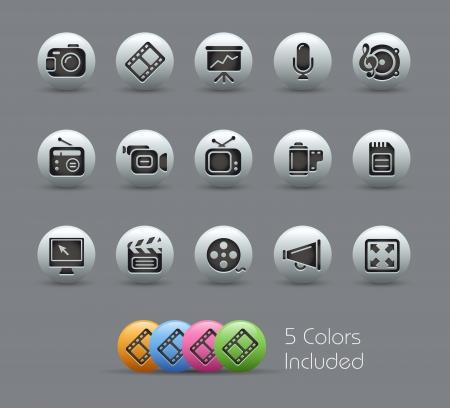 Multimedia Icons - Série Nacré Vecteurs