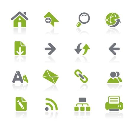 Navigatie van het Web Icons - Natura Series Stock Illustratie