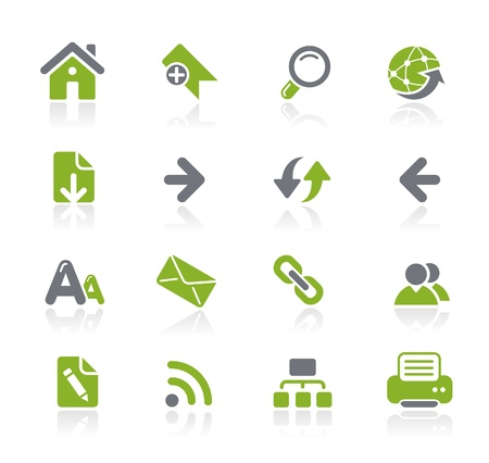 web page elements: Web Navigation Icons -- Natura Series  Illustration