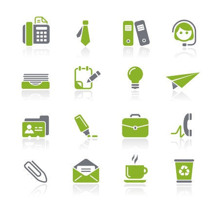 web icons communication: Office and Business Icons -- Natura Series Illustration