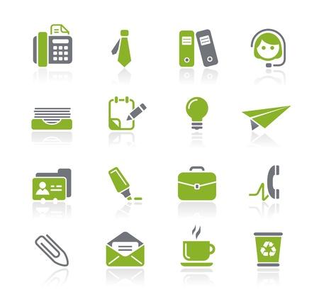 Oficina y Negocios iconos - Serie Natura Ilustración de vector
