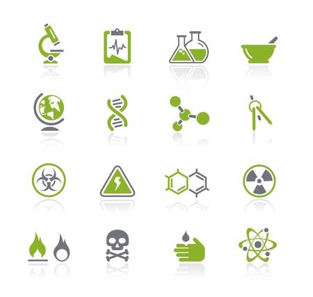 sustancias peligrosas: Iconos Ciencia - Natura Series