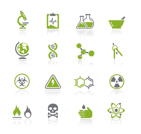 heat radiation: Science Icons -- Natura Series Illustration