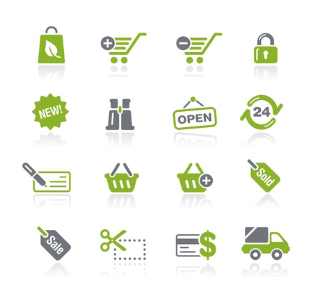 e commerce icon: Shopping -- Natura Series