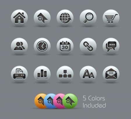 Web Site and Internet Icons -- Pearly Series Vector