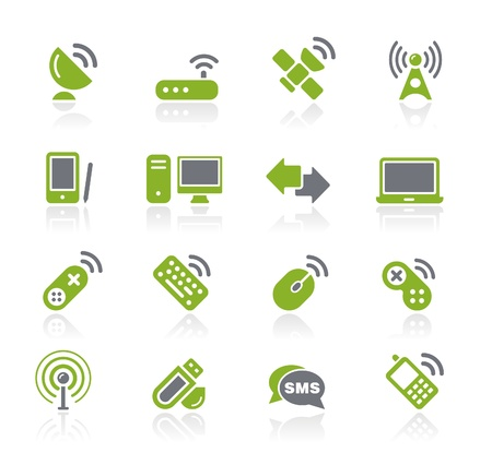 Wireless and Communications -- Natura Series  Vector