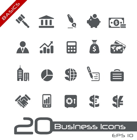 bank icon: Business and Finance Icons -- Basics Series Illustration