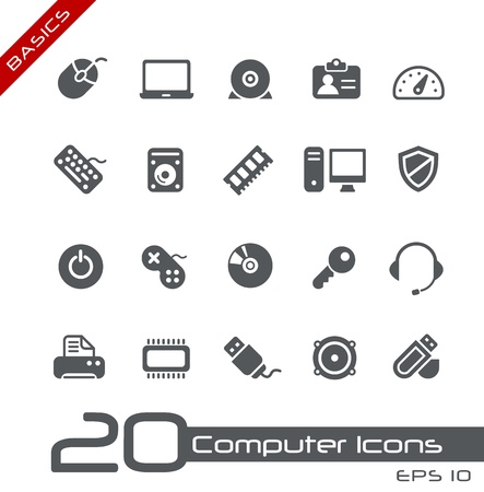 toolbar: Icone Computer - Serie di base