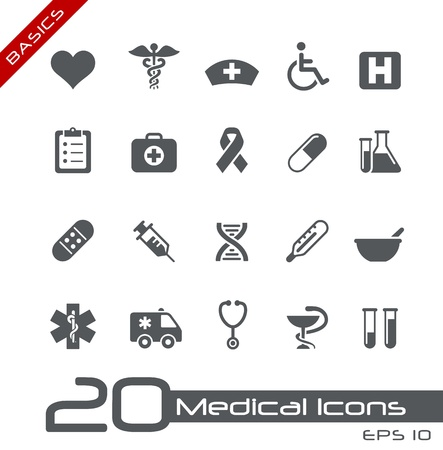 Medical Icons -- Basics Series Stock Vector - 15137672