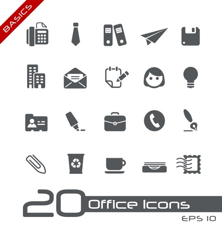 Office and Business Icons -- Basics Series Vector