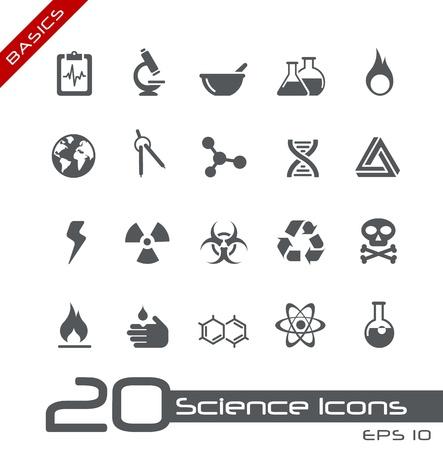 sustancias peligrosas: Iconos de la ciencia - serie Basics
