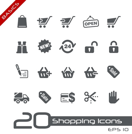 Sopping Icons -- Basics Series Vector