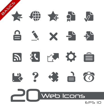 Web Icons -- Basics Series Illustration