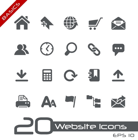 Website Icons -- Basics Series Vector