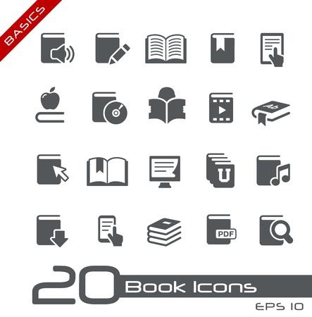 Icônes de livres - série Basics