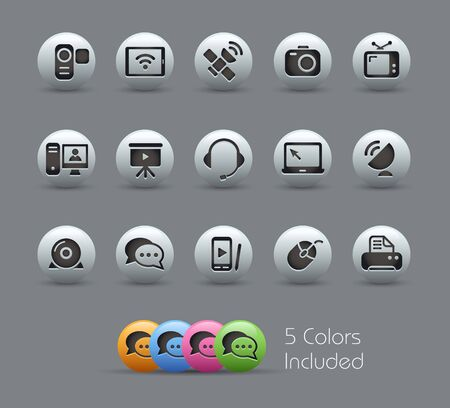 Communications Icons -- file includes 5 colors  Vector