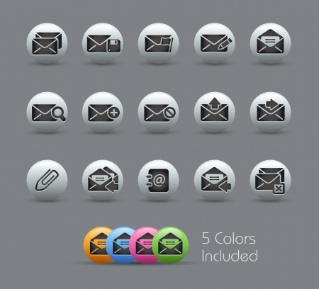 E-mail Icons -- file includes 5 colors Stock Vector - 15561752