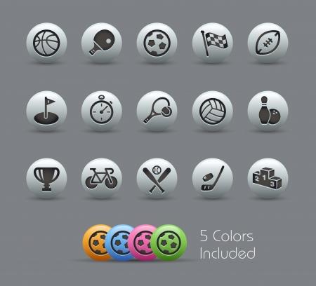 sports icon: Deportes - Iconos archivo incluye 5 colores Vectores