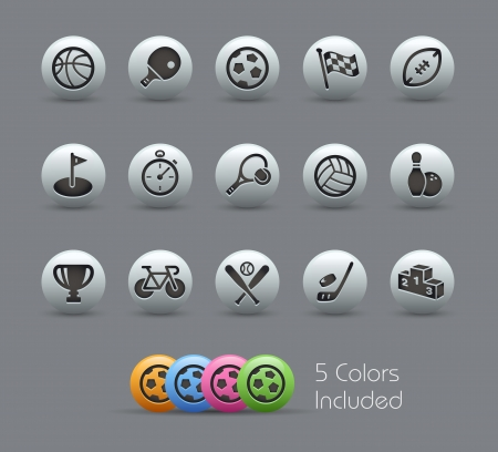 Sports Icons --  file includes 5 colors