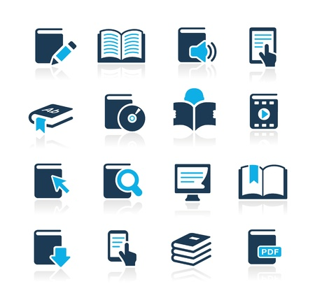e learn: Book Icons -- Azure Series Illustration