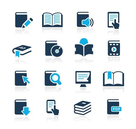 biblioteca: Iconos de libros - Azure Series