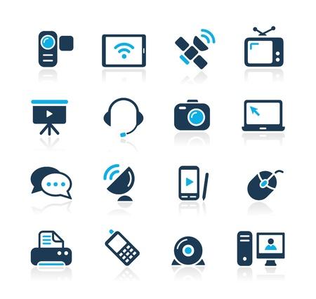 Iconos de comunicación - Azure Series Ilustración de vector