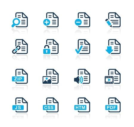 Documents Icons - 1 -- Azure Series Stock Vector - 15779736