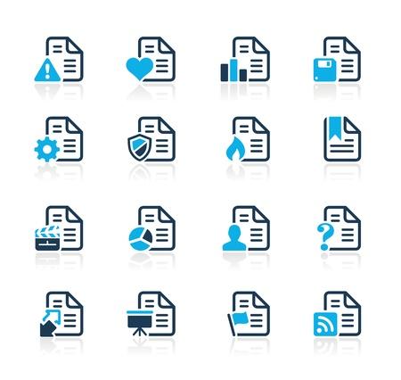 sobresalir: Documentos Iconos - 2 - Serie Azul Vectores