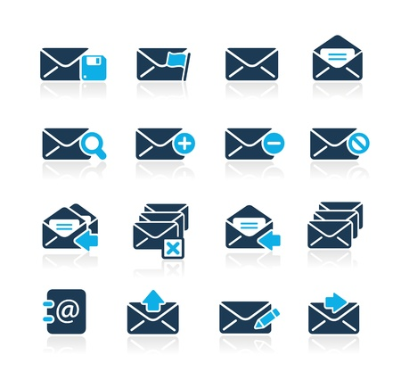 E-mail Icons -- Azure Series Stock Vector - 15779737