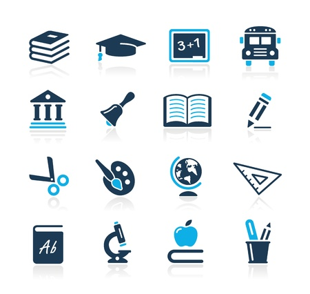 Education Icons  -- Azure Series Stock Vector - 15779734