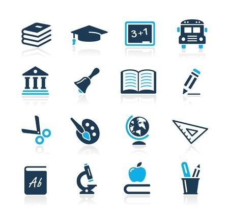 iconos educacion: Iconos de la educaci�n - Azure Series