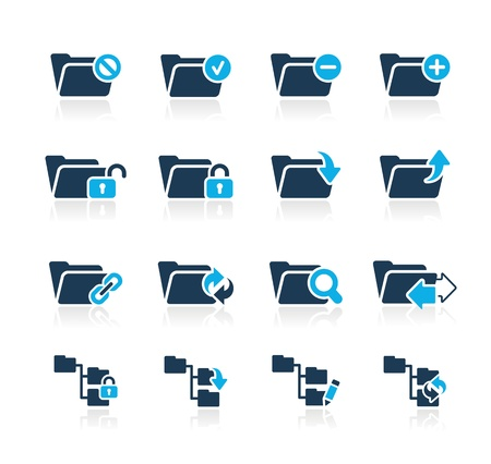Folder Icons - 1 -- Azure Series Stock Vector - 15779728