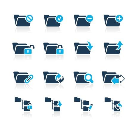 Folder Icons - 1 -- Azure Series Illustration