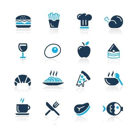 continental food: Food Icons - 1 -- Azure Series Illustration