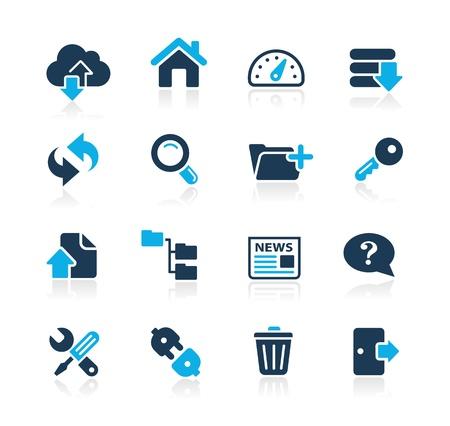 log out: FTP   Hosting Icons -- Azure Series Illustration