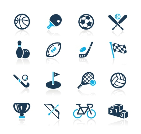 Sports Icons -- Azure Series Stock Vector - 15779731